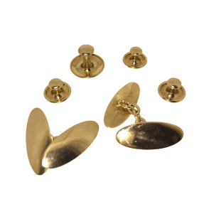 Victorian 18ct Gold Cufflink & Shirt Dress Stud Set