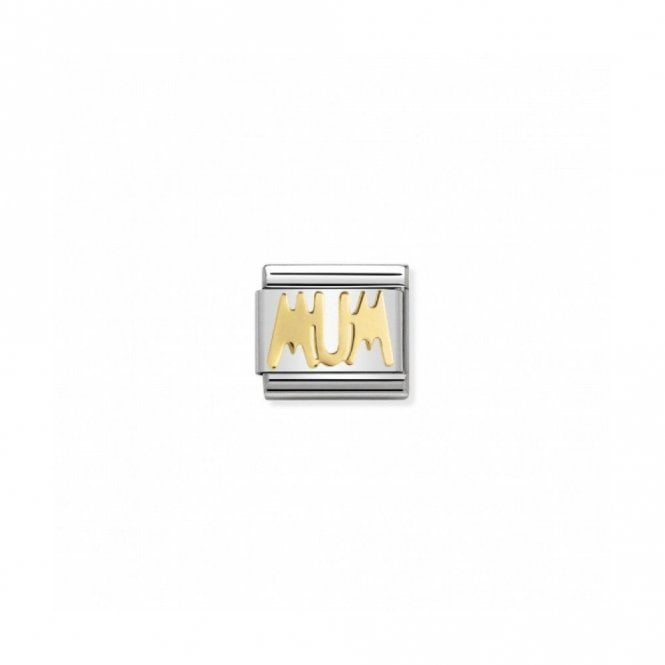 "Nomination Composable Classic Link ""Mum"" Stainless Steel 18K Gold 030107 14"