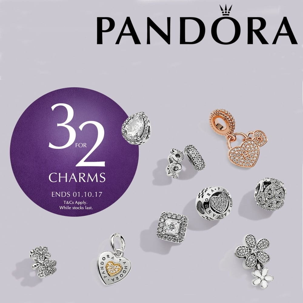 Pandora 3 For 2 on Charms (ends 01.10.2017) - Jewellery from ...