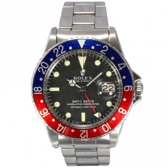 Rolex Gents Oyster Perpetual Long E Dial MK1 GMT Master 1675/0 (Rare Vintage Circa 1965)