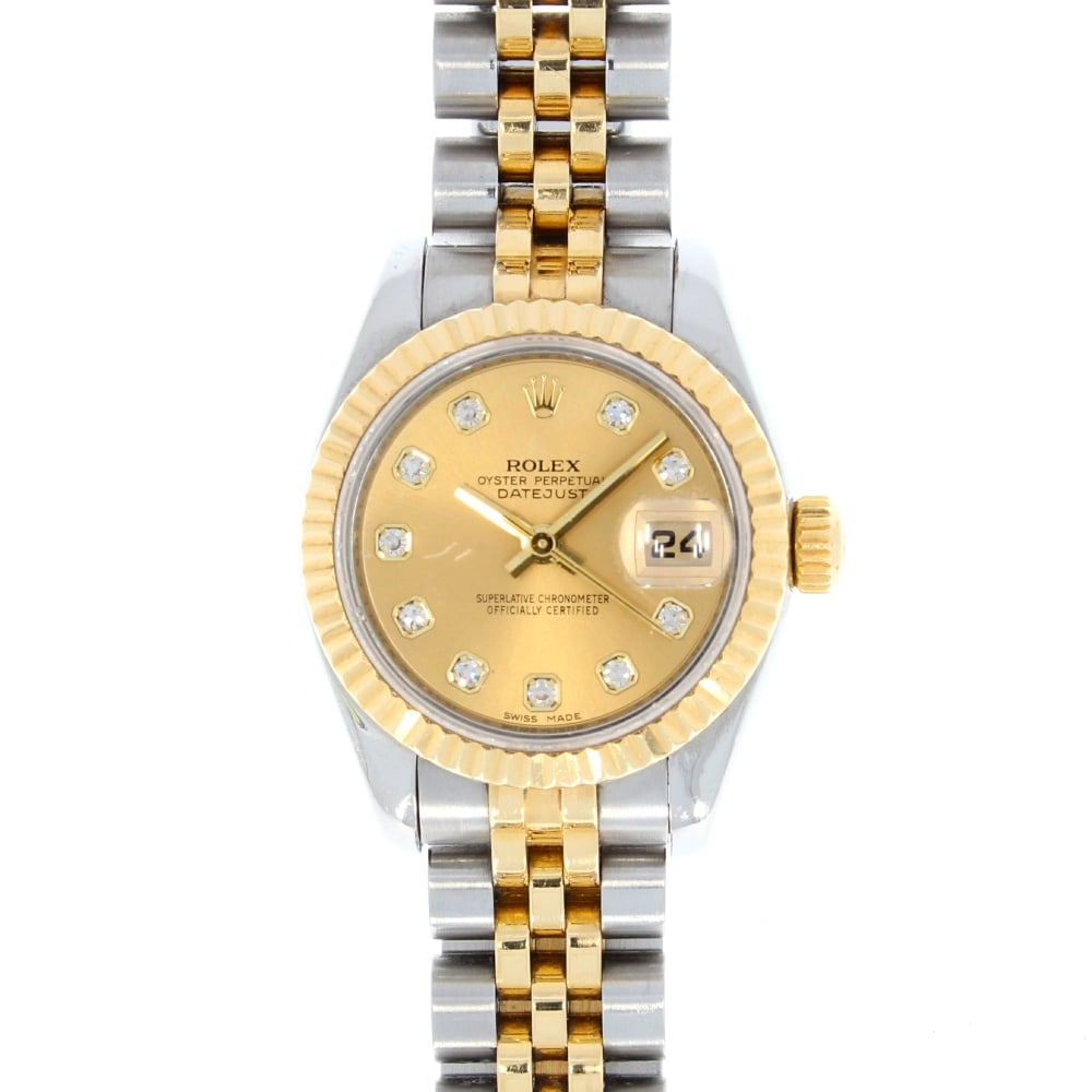 rolex ladies oyster perpetual datejust 179173 rolex from griffin jewellers uk. Black Bedroom Furniture Sets. Home Design Ideas
