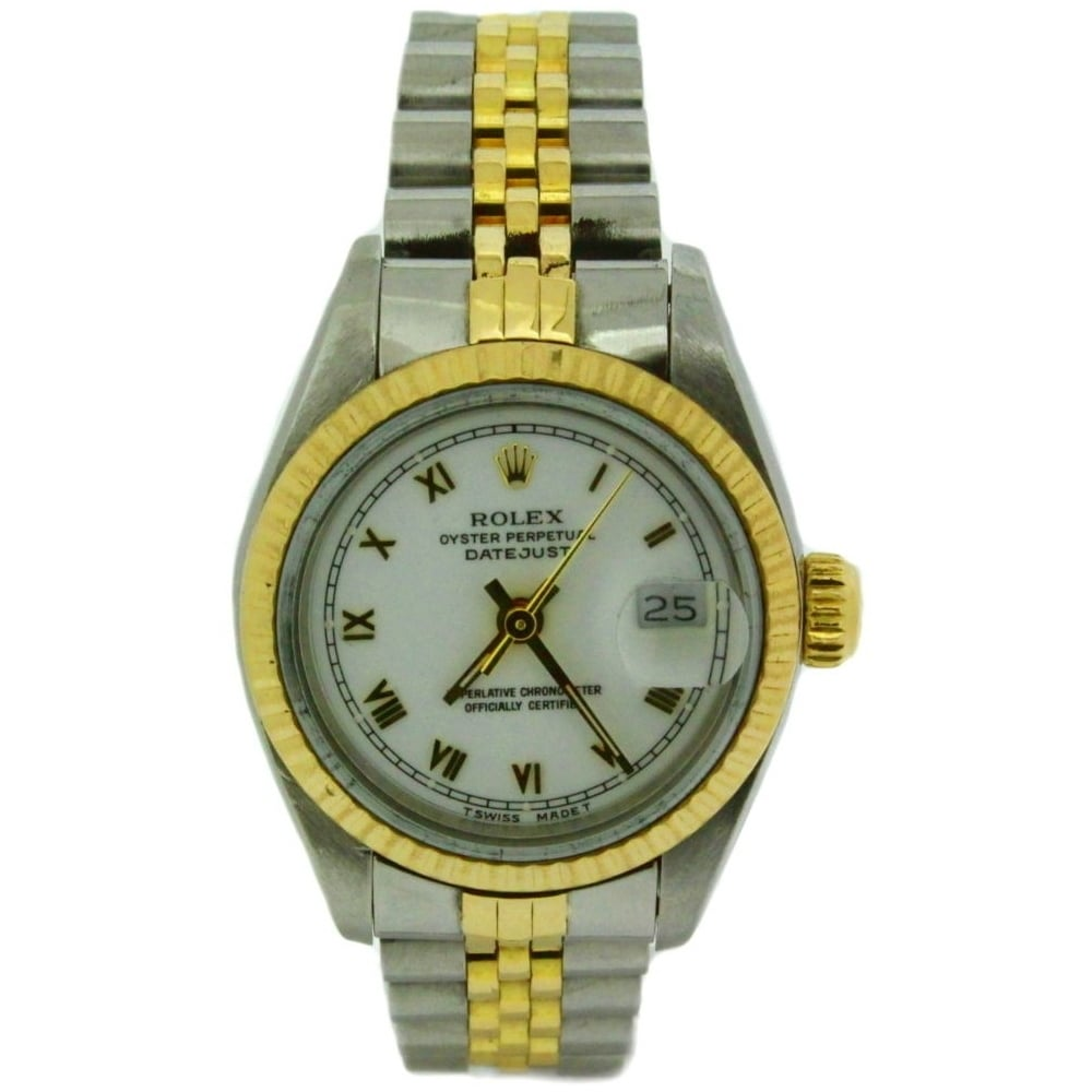 rolex ladies oyster perpetual datejust 69173 rolex from griffin jewellers uk. Black Bedroom Furniture Sets. Home Design Ideas