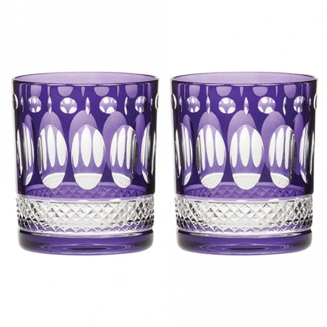 Royal Scot Crystal Pair of Belgravia Tumbler Purple (BELAMB2LT)