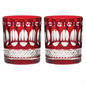 Pair of Belgravia Tumbler Red (BELRUBYB2LT)