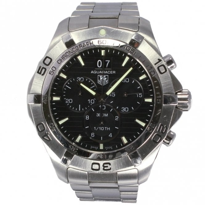 Sold Gents Tag Heuer Aquaracer Grand Date CAF101E-BA0821 (Ref. 31.8.17 EED.SS)