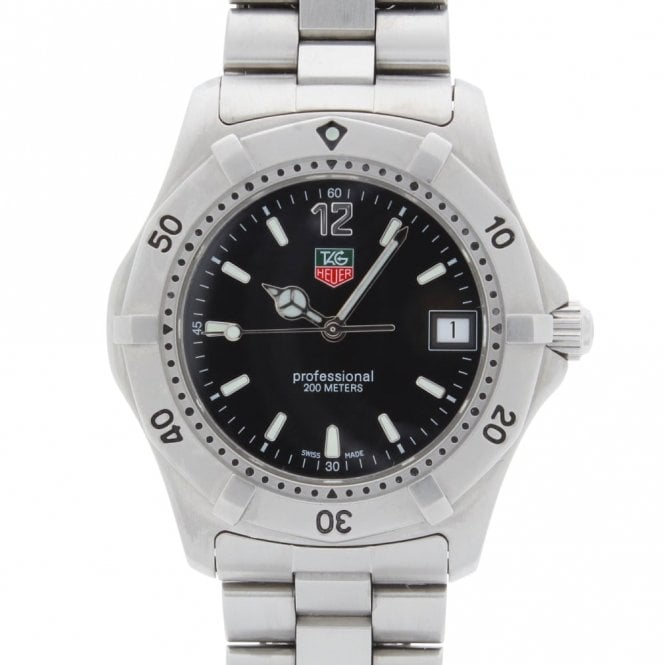 Sold Gents Tag Heuer Professional 2000 WK 1110 (ref. 1.5.18 NEE.SS)