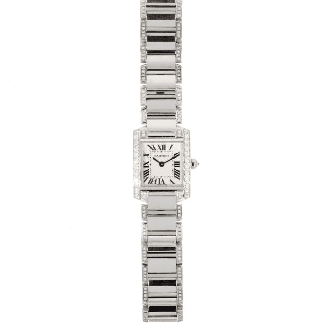 Sold Ladies Cartier Diamond Set Tank Francaise 2384 (Ref. 24.12.2017 UEED.SS)