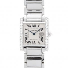 Ladies Cartier Tank Francaise 2465 (ref. 17.10.18 UAOD.SS)