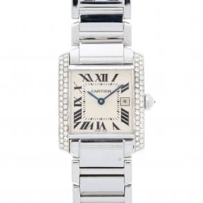 Ladies Cartier Tank Francaise Midi 2465 (10.19 UREE.SS)