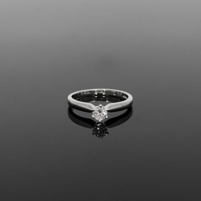 Solitaire Ring 0.25ct Diamond 18ct White Gold