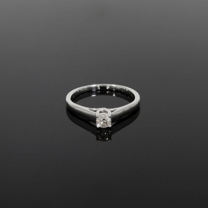 Solitaire Ring 0.25ct Diamond 9ct White Gold