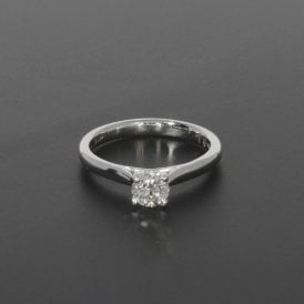 0.51ct Brilliant Cut Diamond Platinum