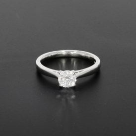 0.61ct Brilliant Cut Diamond 18ct White Gold