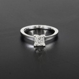 1.01ct Princess Cut Diamond 18ct White Gold