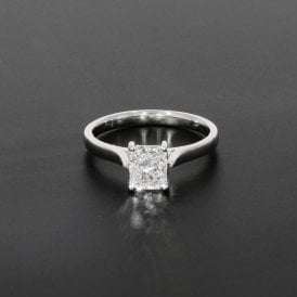 1.01ct Radiant Cut Diamond 18ct White Gold