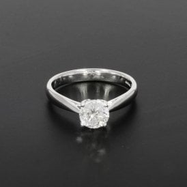 1.0ct Certificated Diamond White Gold