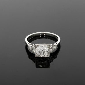 1.81ct Total Diamond Vintage Deco Platinum