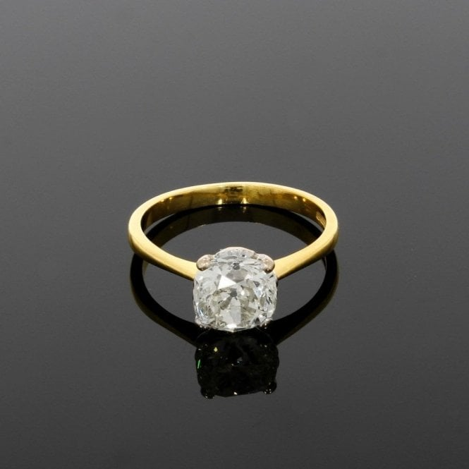 Solitaire Ring 2.00ct Diamond 18ct Yellow Gold