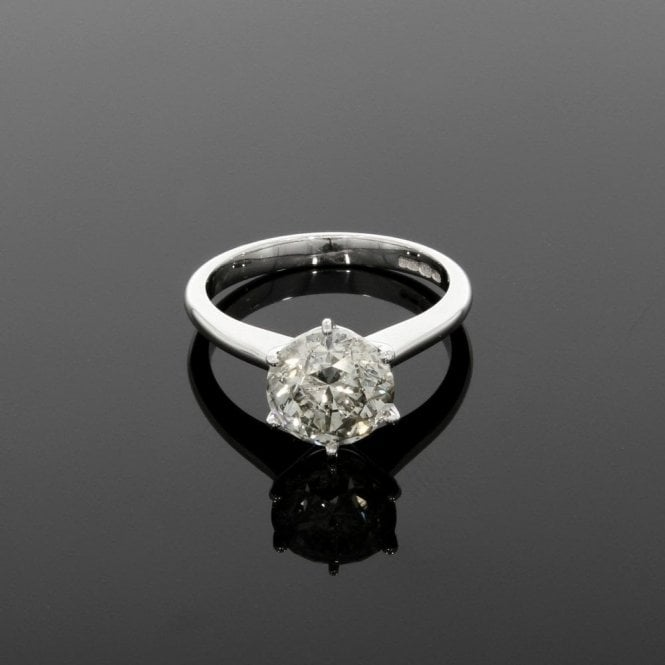 Solitaire Ring 2.70ct Diamond 18ct White Gold