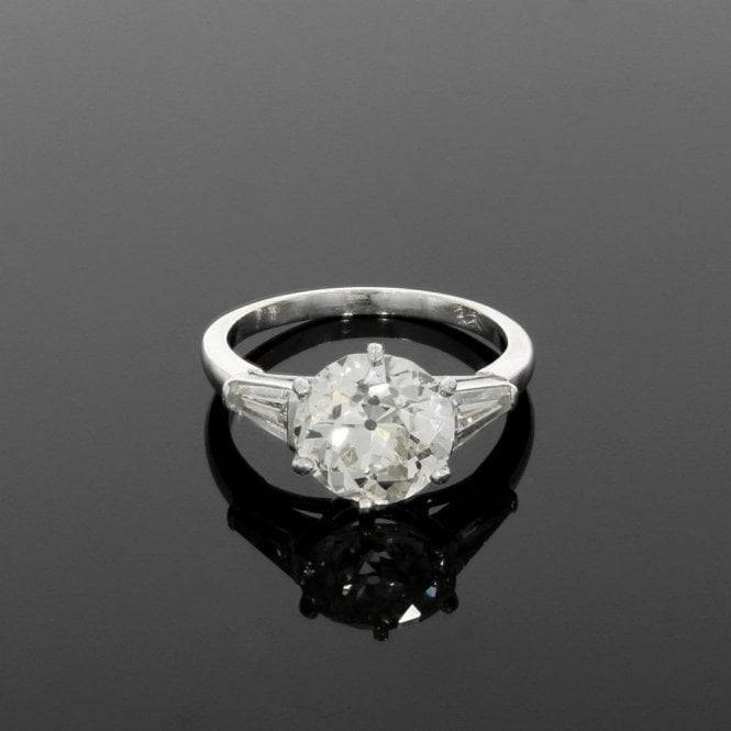 Solitaire Ring 3.34ct Central Diamond 18ct White Gold
