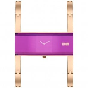 Ladies Akiko Rose Gold Purple 47289/P