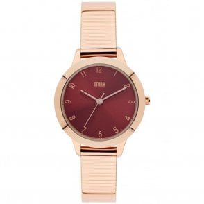Ladies Arya Rose Gold Red 47291/R
