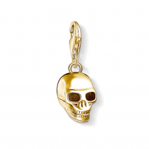 Gold Coloured Skull Charm