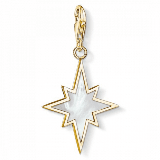 Thomas Sabo Gold Coloured Star Mother Of Pearl Charm