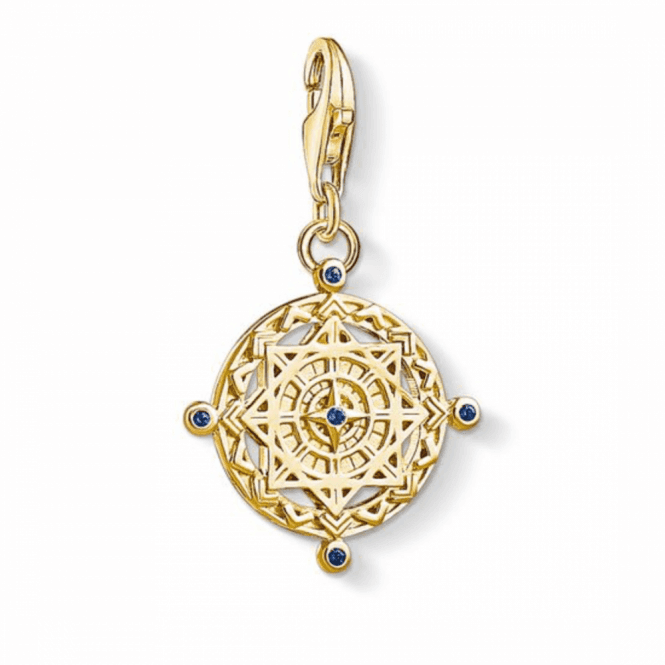 Thomas Sabo Gold Coloured Vintage Compass Charm