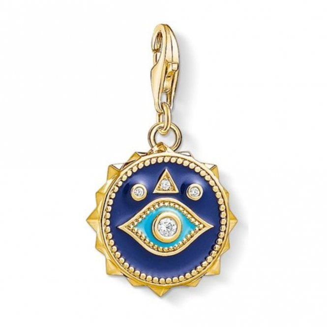 Thomas Sabo Gold Plated Blue Nazar Eye Pendant