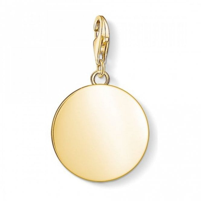Thomas Sabo Gold Plated Disc Charm