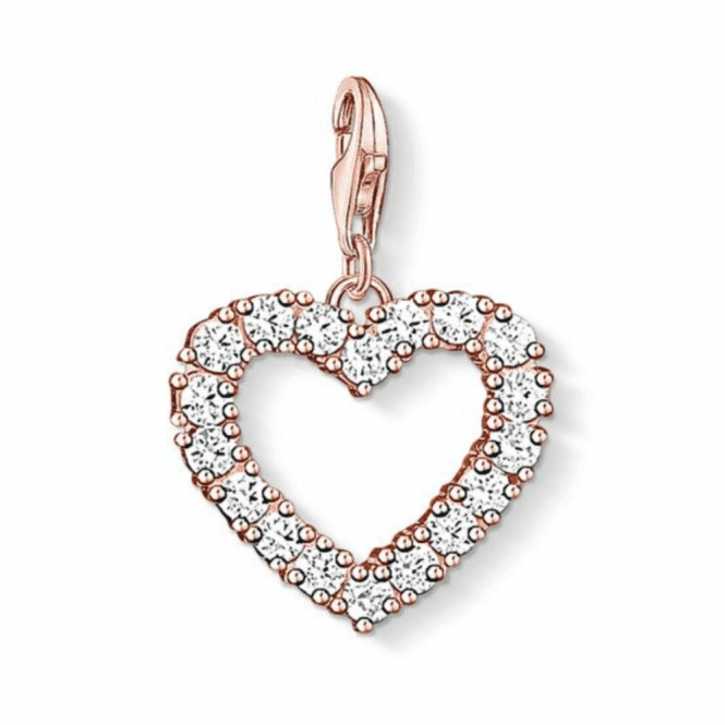 Thomas Sabo Rose Gold Coloured Heart Charm