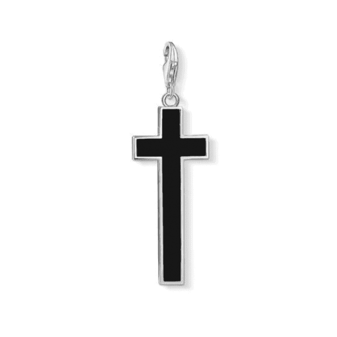 Thomas Sabo Silver Black Cross Charm