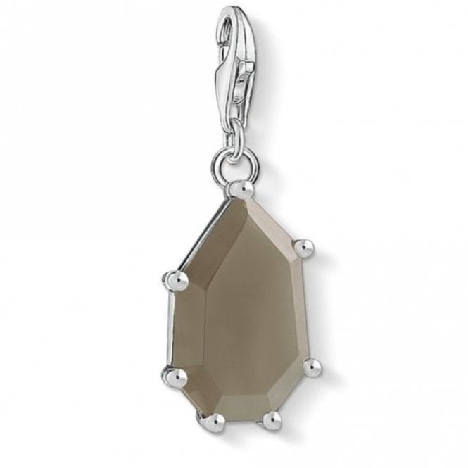 Thomas Sabo Silver Brown Stone Charm