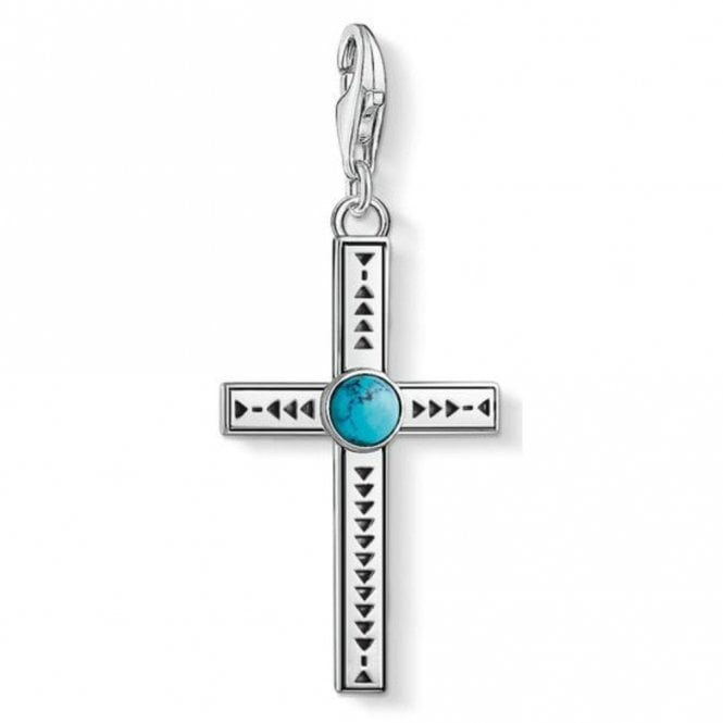 Thomas Sabo Silver Ethnic Cross Charm