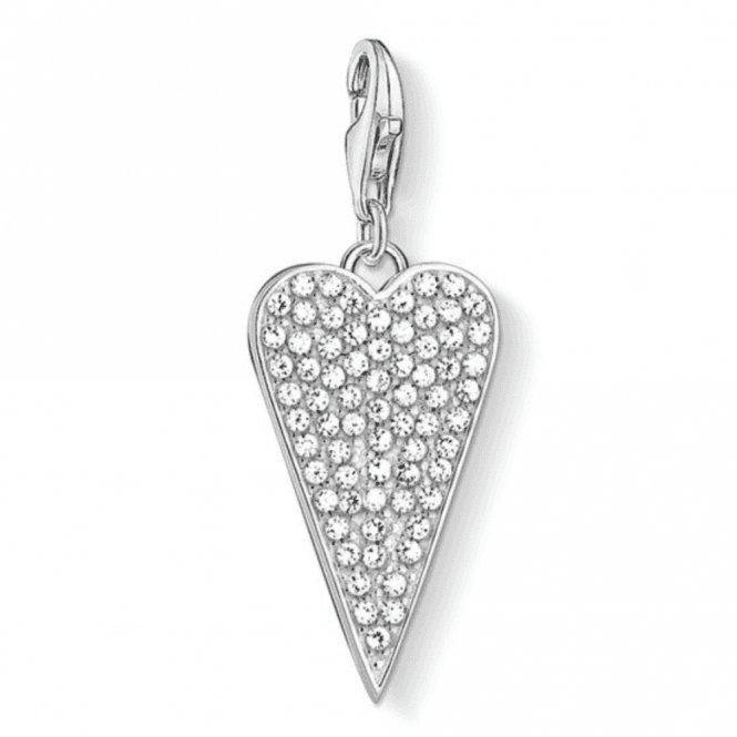 Thomas Sabo Silver Heart Pave Charm