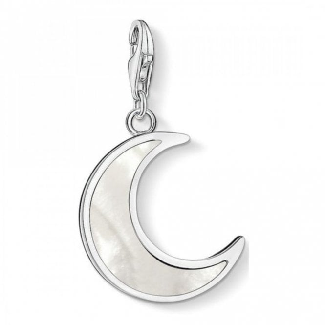 Thomas Sabo Silver & Mother of Pearl Moon Charm