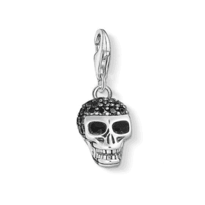 Silver Skull Pave Charm
