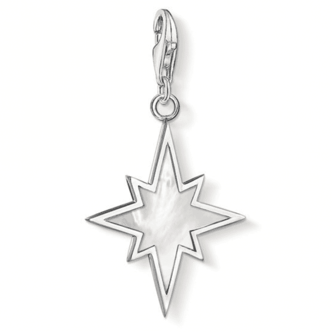 Thomas Sabo Silver Star Mother Of Pearl Charm