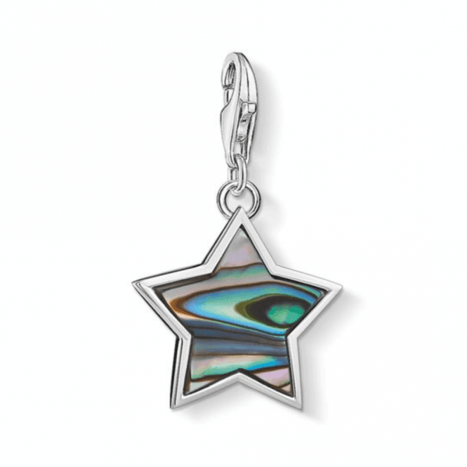 Thomas Sabo Silver Star Mother Of Pearl Turquoise Charm