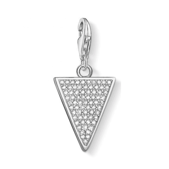 Thomas Sabo Silver Triangle White Charm