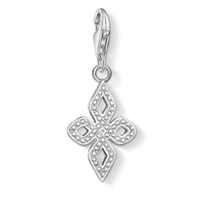 Silver White Love Knot Small Charm