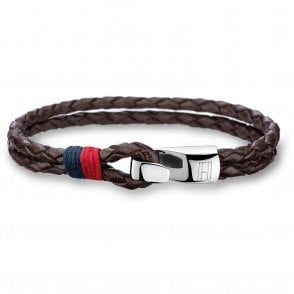 Double Row Leather Bracelet Brown (2700671)