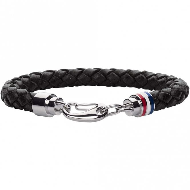 Tommy Hilfiger Leather Bracelet Black (2700510)