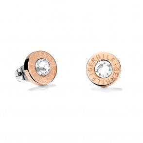 Logo Branded Earrings Rose Gold (2700752)