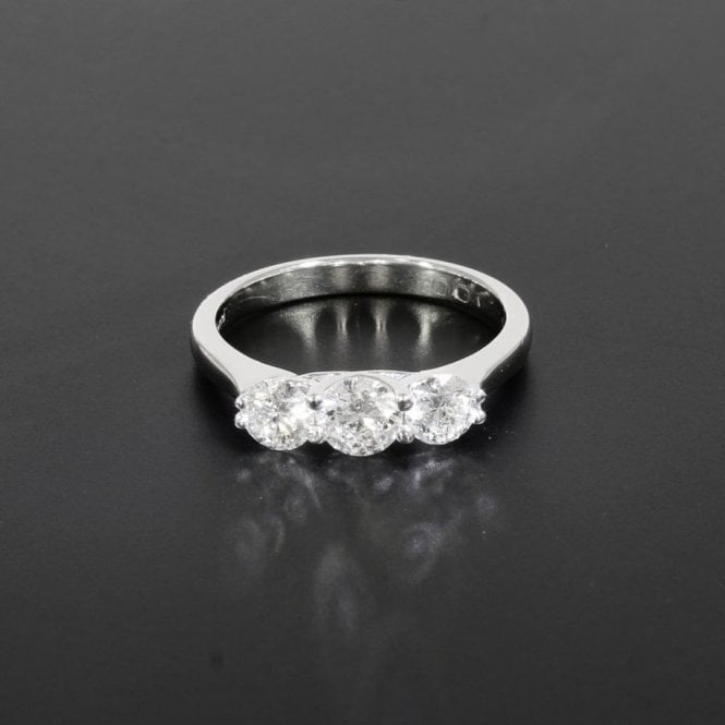 Trilogy Ring 1.00ct Total Weight White Gold