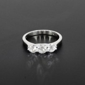 1.00ct Total Weight White Gold