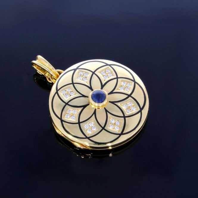 Victor Mayer 18ct Diamond Sapphire Locket
