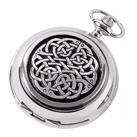 Chrome and Black Knot Full Hunter Pocket Watch 1873/Q