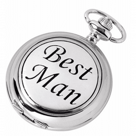 Chrome Best Man Full Hunter Pocket Watch 1884/S